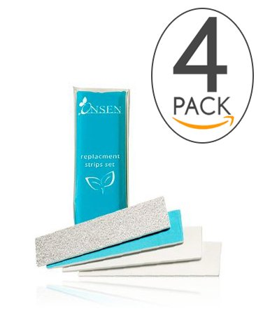 Nail Buffer Block, 3 Way Buffing – File, Smooth, Shine – Mini Natural Nail Polisher with 3 Sides – Coarse, Soft, Silky – Professional Nail Care, White Sanding Block, Perfect Mini Manicure Set by Onsen 3 Way Buffing – File NB
