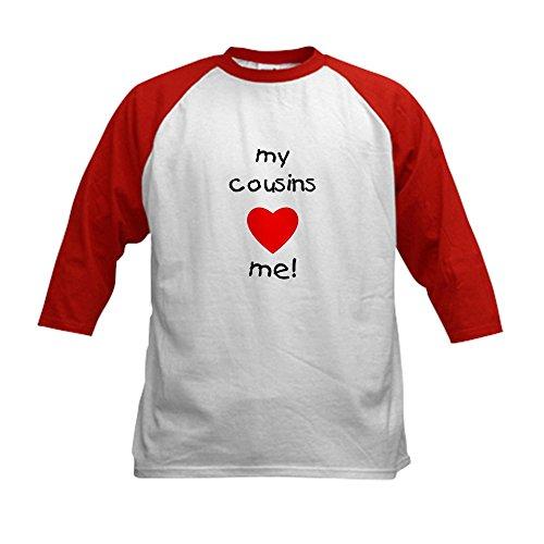 CafePress - My cousins love me Kids Baseball Jersey - Kids C