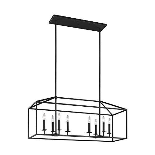 Sea Gull Lighting 6615008-839 Perryton Eight Island Pendant Hanging Modern Light Fixture, Blacksmith Finish