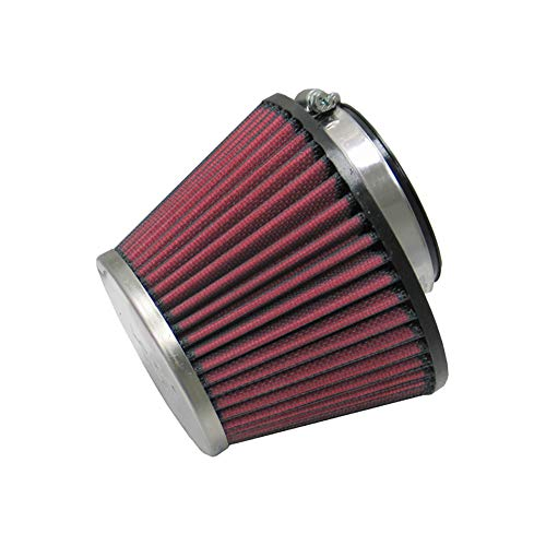 K&N RC-1637 Universal Clamp-On Air Filter: Round Tapered; 3.25 in (83 mm) Flange ID; 5.438 in (138 mm) Height; 5.75 in (146 mm) Base; 3.5 in (89 mm) ()