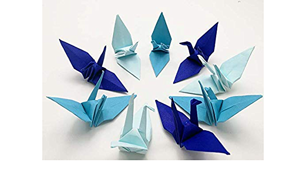 Lot of 80pcs 3-Inch Batik Design Origami Cranes Hand-folded From 3 x 3 Square Paper. #FCA-13. WR paper series