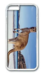 MOKSHOP Adorable Kangaroo on BEach Hard Case Protective Shell Cell Phone Cover For Apple Iphone 6 Plus (5.5 Inch) - PC Transparent