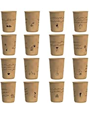 8 ounce Paper Cup Double Wall Craft Coffee Poetry 500 pieces (16 different designs)