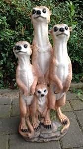 Familia de suricatos Trio Figura Jardín Jardín Decoración