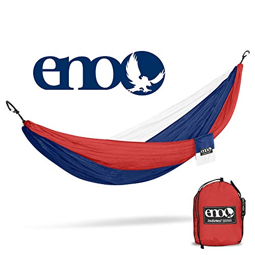 ENO – Eagles Nest Outfitters DoubleNest Hammock, Portable Hammock for Two, Patriot FFP