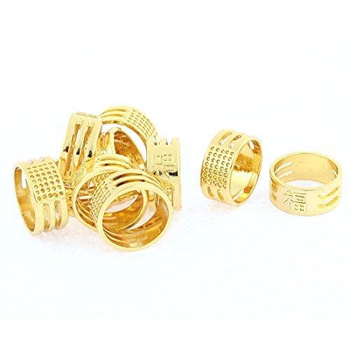 eDealMax carattere cinese Modello per Abiti Thimble dell'anello di barretta Protector 10 pezzi