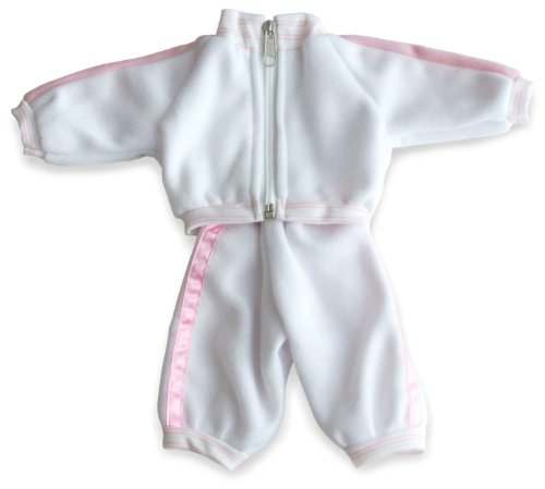Miniland 2-piece Pink and WhiteTracksuit for 12.63'' Baby Dolls