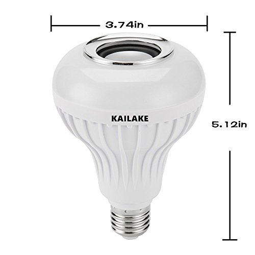 KAILAKE LED Wireless Light Bulb Speaker-RGB Sm Music 2018 New Design Instagram 5000+Likes with Stereo Audio Smart 7W E27 Changing Lam Lamp+24 Keys Remote Control by KAILAKE (Image #6)'