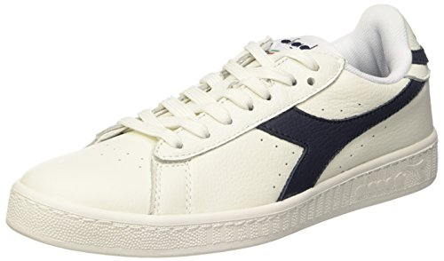 Bianco Bianco Black Bianco Tennis L Mar 0 Adults' Waxed Shoe High Caspio 42 Diadora Game Unisex Blu EUR n8qYOTq7
