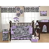 Purple Funky Zebra Fabric Memory/Memo Photo Bulletin Board by Sweet Jojo Designs