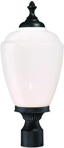 Acclaim 5367BK WH Acorn Collection 1-Light Post Mount Outdoor Light Fixture, Matte Black