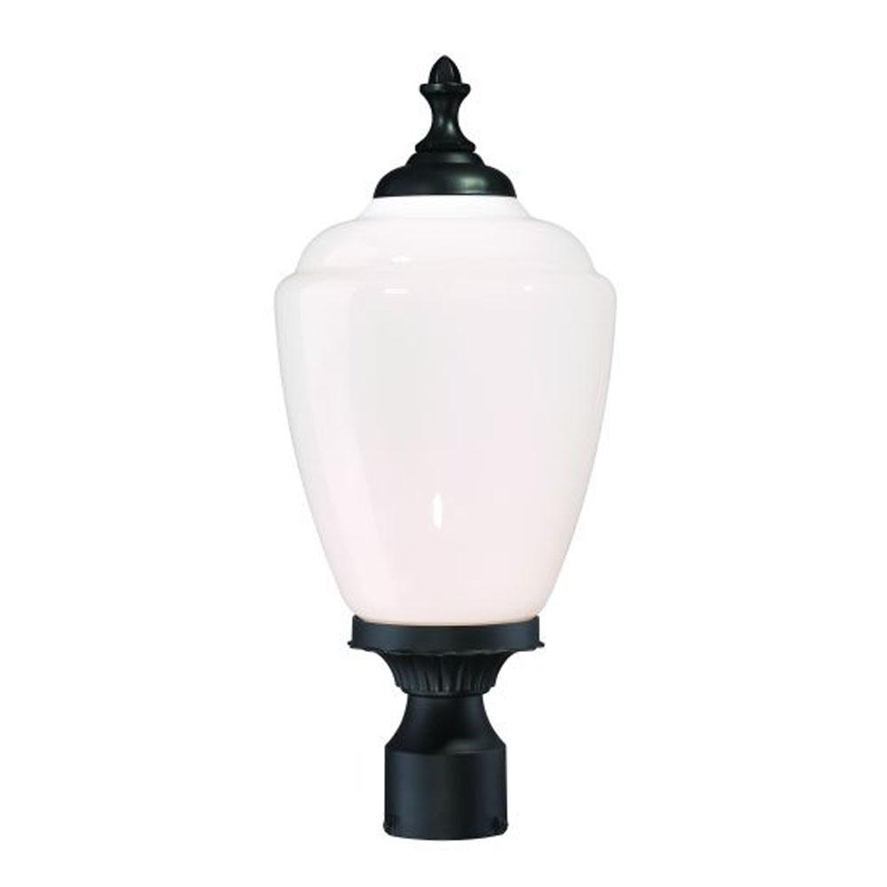 Acclaim 5367BK/WH Acorn Collection 1-Light Post Mount Outdoor Light Fixture, Matte Black