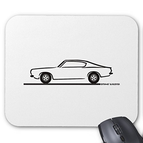 Zazzle 1968 1969 Plymouth Barracuda Mouse Pad (Barracuda Coupe)