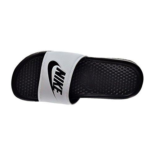 Nike Benassi JDI Mens Sandals White/Black 343880-100 (10 D(M) US)