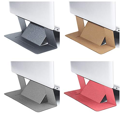 Invisible Laptop Stand,PU &Fiberglass Adhesive Comfortable Work Bracket