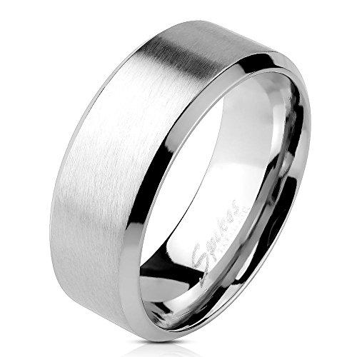 Bungsa® Edelstahl Ring Silber