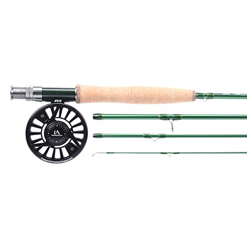 Maxcatch Premier Fly Fishing Rod with Avid Fly Reel (Includes Rod case) 3/4,5/6,7/8wt (Model02, 9ft 6wt Rod+5/6wt Reel)