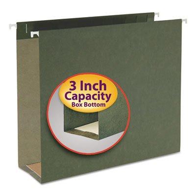 Three Inch Capacity Box Bottom Hanging File Folders, Letter