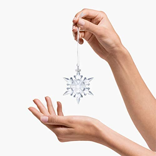 Crystal Large Annual Edition Christmas Ornament 2020 Glass Snowflake Home Decor