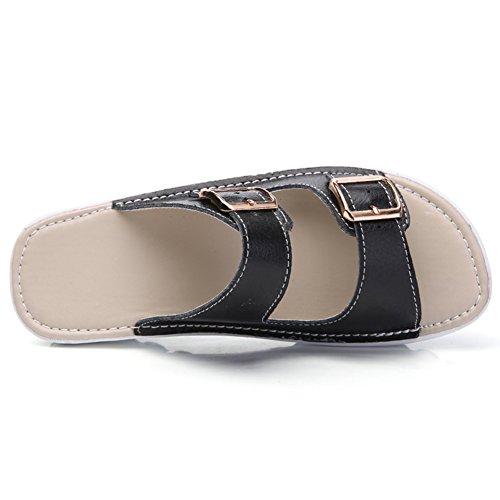VWU - Sandalias de vestir de Piel para mujer negro