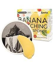 Arrtx Blending Sponges for Art Crafting Painting Sketching Drawing, Washable Reusable Banana-shaped Blending Tool, Pack of 3, Art Blenders for Beginners, Artists