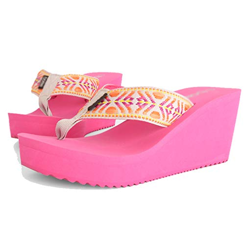 color Female Aminshap Sandals 39eu Brown Size With Platform Thick Flops Models Slippers Shoes slip Pink Non Flip Summer Beach 6fqfw