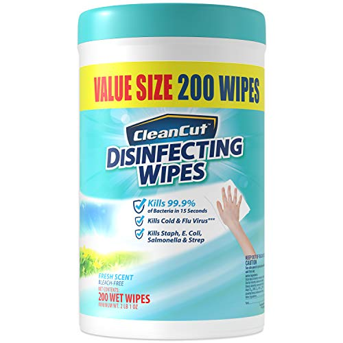 Disinfecting Wipes by Clean Cut, Fresh Scent, 200 Wet Wipes