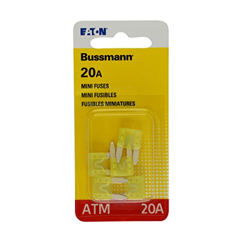 Bussmann BP/ATM-20-RP Yellow Automotive Mini Non-Indicating Fast Acting Fuse