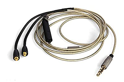 EarMax For Shure SE 215 215 315 535 upgrade audio cable with remote control mic , replacement upgrade earphone cable from EarMax