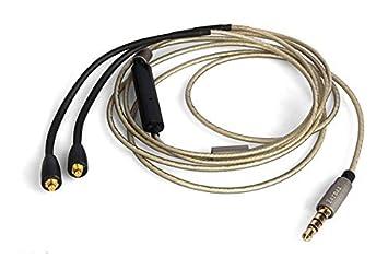earmax para Shure se 215 215 315 535 Upgrade Cable de audio con micrófono y Control