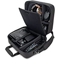 Video Projector Carrying Case Bag for DBPOWER T20 , ViewSonic PJD5155/PJD5255 , Epson VS250 , EX21 & More by USA Gear - Scratch-Resistant Interior , Shoulder Strap , & Customizable Dividers