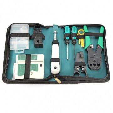 9 in 1 RJ45 RJ11 Cat5 Network Tool Kit Cable Tester Crimper (Cat5 Plug)