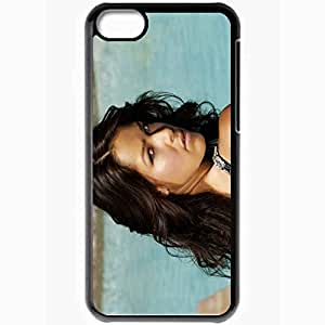 Personalized iPhone 5C Cell phone Case/Cover Skin Ana Ivanovic Brunette Face Eyes Hair Black
