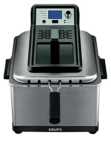 KRUPS KJ502D51  Deep Fryer, Electric Deep Fryer, Stainless Steel Triple Basket...