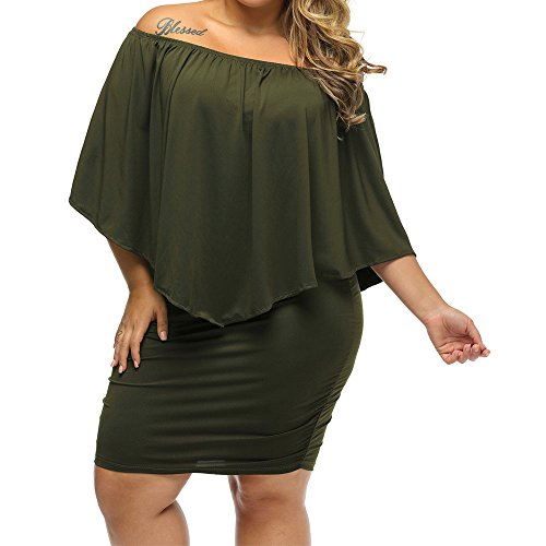 MuCoo Party 4 Tulle Women's Sleeve 2 Size Dress green Sexy 3 Sheer Bodycon Mesh Plus qwXXxYrP