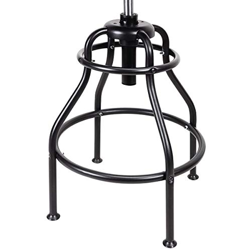 Adjustable Shop Stool with Backrest 275 lb Capacity by Pitt (Image #4)