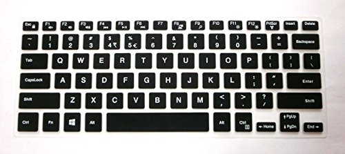 US layout Keyboard Protector Skin Cover for Dell Inspiron 13-5368 13-7368 13-7378 13-5378 15-5568 15-5578 15-7569 15-7579 15-9560 i5368 i5378 i7368 i7378 i5568 i7569 i7579 with BingoBuy Case (black)