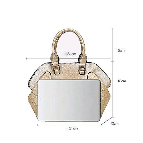 AJLBT Bolso Femenino Europa Y Los Estados Unidos Forman Seis Conjuntos De Bolsos De Bandolera Sencillos Messenger Bag Black