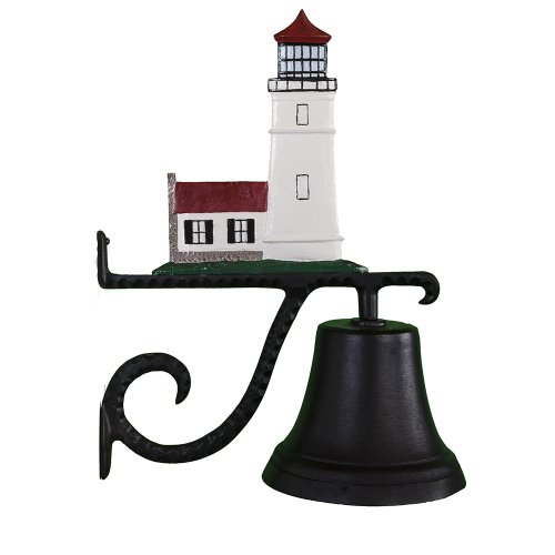 Montague Metal Products Cast Bell with Color Cottage Lighthouse -