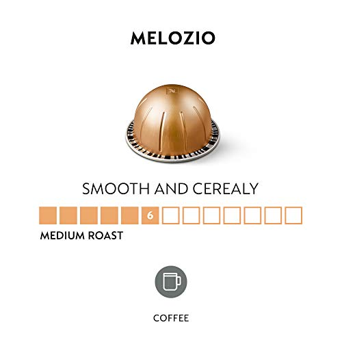 Nespresso Capsules VertuoLine, Melozio, Medium Roast Coffee, 30 Count Coffee Pods, Brews 7.8 Ounce