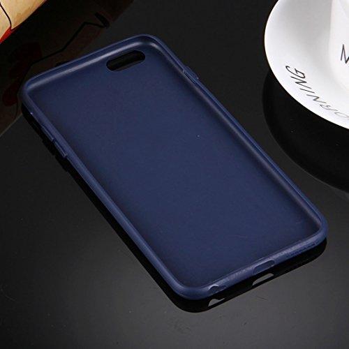 Phone Taschen & Schalen Für iPhone 6 Plus & 6s Plus Solid Color TPU Schutzhülle ohne Rundloch ( Color : Dark blue )