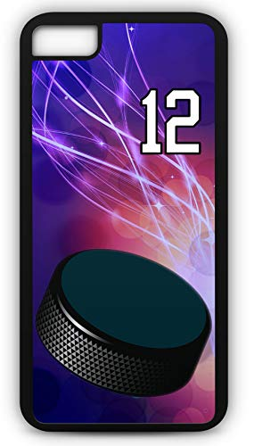 iPhone 6 Plus 6+ Phone Case Hockey H039Z by TYD Designs in Black Plastic Choose Your Own Or Player Jersey Number 12 (Iphone 6 Devils Hockey Case)