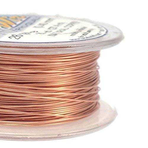 Beadsmith 0.4mm (26ga) Non-Tarnish Craft Wire - Natural Copper - 27.4m (30yd)