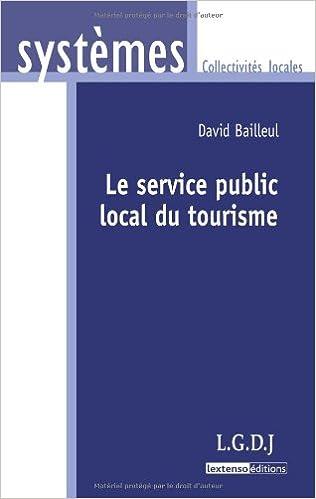 Livres Le service public local du tourisme pdf