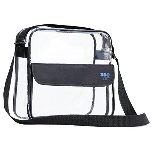 Clear Cross-Body Messenger Shoulder Bag 10