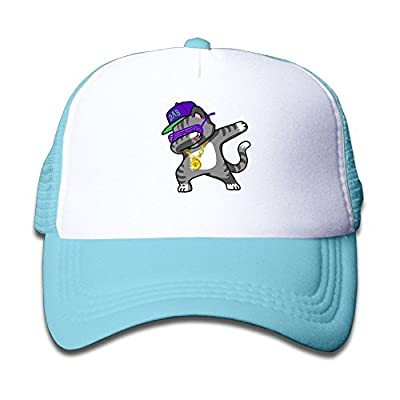 Trucker Cap Boy and Girl Dabbing Cat Funny - DAB Hip Hop Dabbing Kitten Mesh Baseball Hat