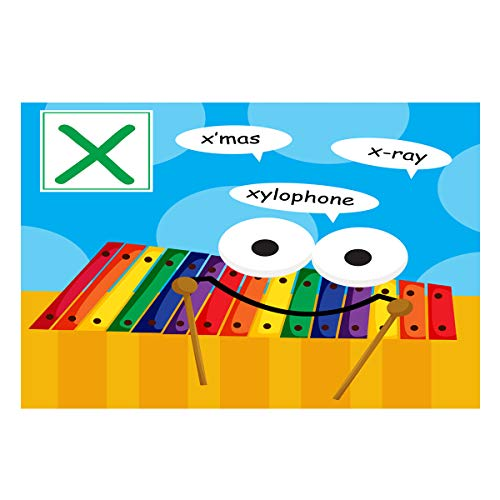 Fantasy Star Aquarium Background Alphabet Letter X Xylophone Fish Tank Wallpaper Easy to Apply and Remove PVC Sticker Pictures Poster Background Decoration 18.4