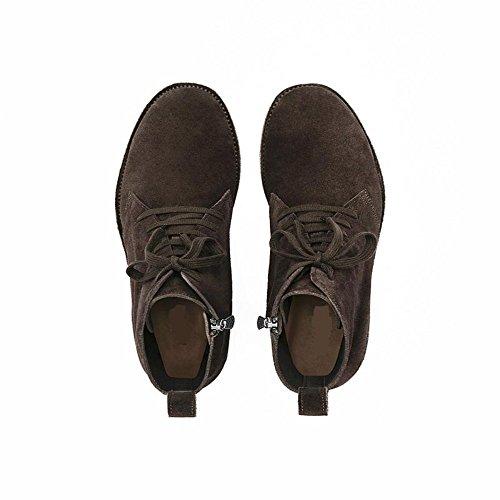 Scarpe Stringate Da Uomo In Pelle Scamosciata Con Tacco Medio In Camoscio Scarpe Invernali (us 11)