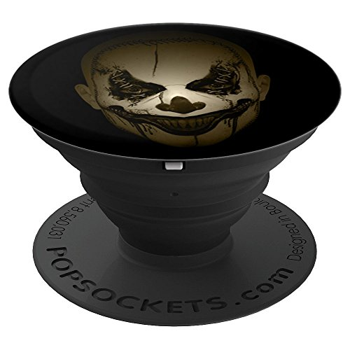 Scary Clown Face Spooky Halloween - PopSockets Grip and Stand for Phones and Tablets by TeeShirtz