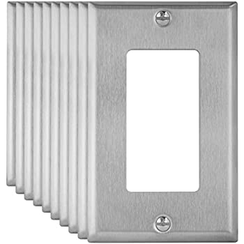enerlites 773110pcs decorator swtich stainless steel wall plate 1gang standard size